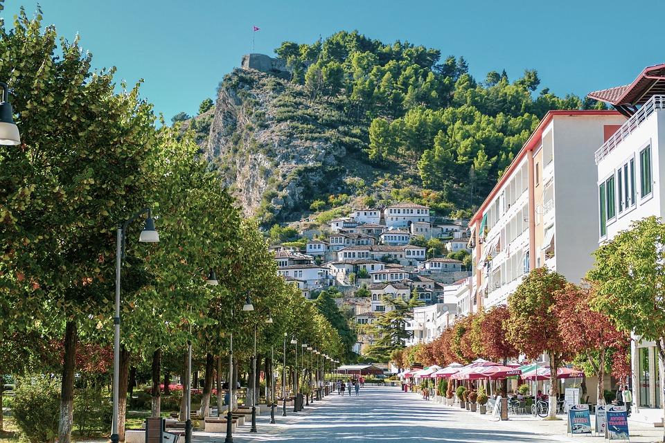 miasteczko Berat w Albanii